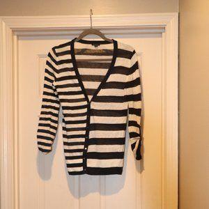 Ann Taylor Striped Cardigan Sweater